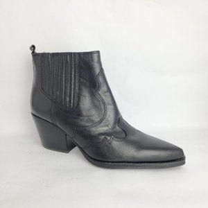 NEW Sam Edelman Winona Western Ankle Boot Black 8